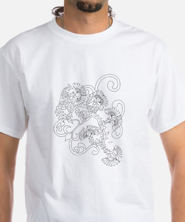 Wild Flowers Color Your Own White T-Shirt
