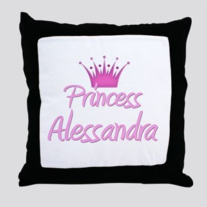 Princess Alessandra Throw Pillow