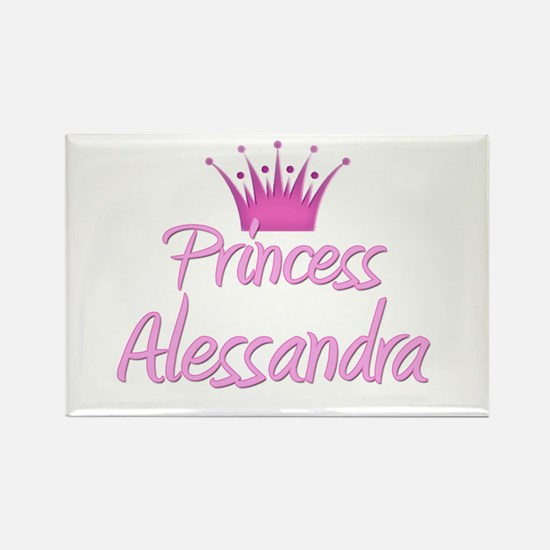 Princess Alessandra Rectangle Magnet
