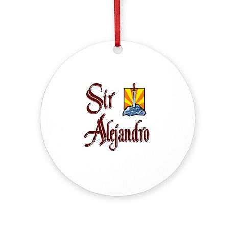 Sir Alejandro Ornament (Round)