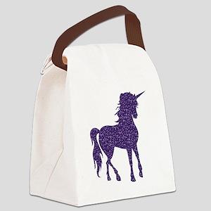 Purple Unicorn Canvas Lunch Bag