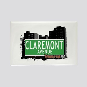 CLAREMONT AVENUE, MANHATTAN, NYC Rectangle Magnet