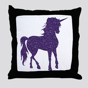 Purple Unicorn Throw Pillow