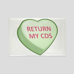 RETURN MY CDS Candy Heart Rectangle Magnet