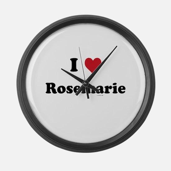 I love Rosemarie Large Wall Clock