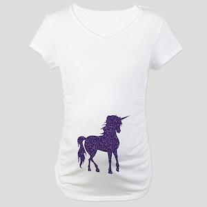 Purple Unicorn Maternity T-Shirt