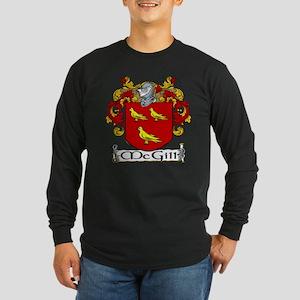McGill Coat of Arms Long Sleeve Dark T-Shirt