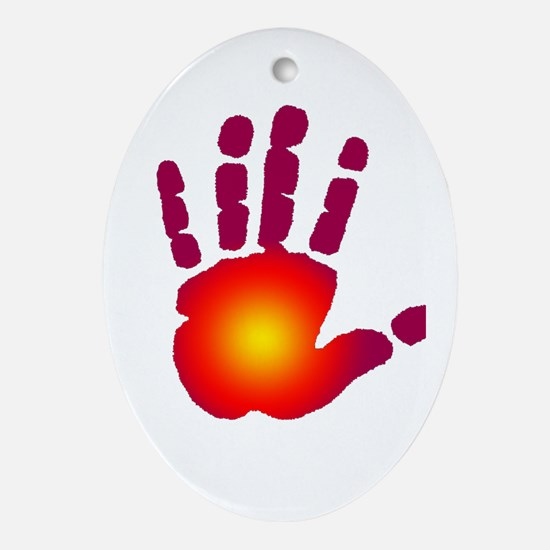 Energy Hand Ornament (Oval)