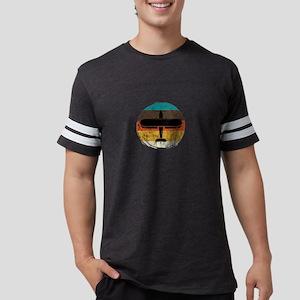 Vintage Distressed Retro Circle Airplane G T-Shirt