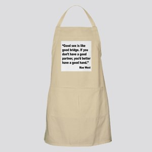 Mae West Good Sex Quote BBQ Apron
