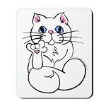 Longhair ASL Kitty Mousepad