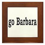 go Barbara Framed Tile