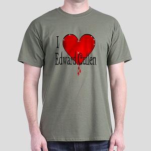 I heart Edward Cullen /blk Dark T-Shirt