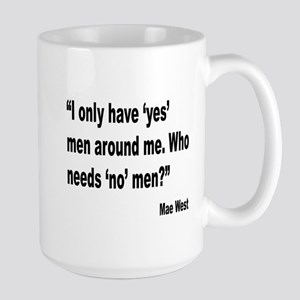 Mae West Yes Men Quote Large Mug