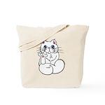 Longhair ASL Kitty Tote Bag