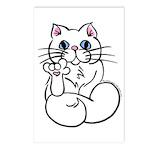 Longhair ASL Kitty Postcards (Package of 8)