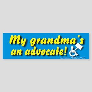 My grandma's an advocate Bumper Sticker