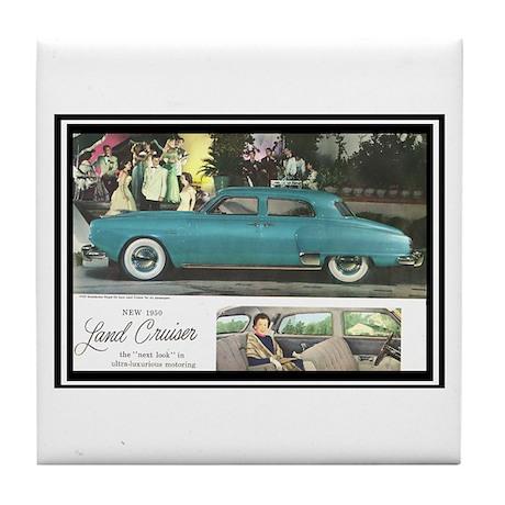 """1950 Studebaker Land Cruiser"" Tile Coaster"