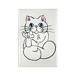 Longhair ASL Kitty Rectangle Magnet (100 pack)