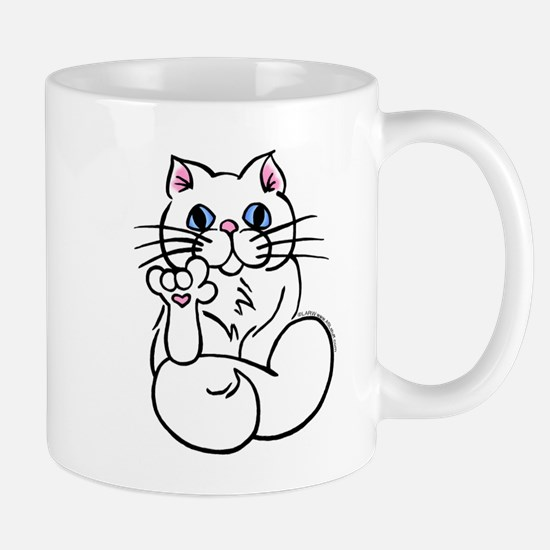 Longhair ASL Kitty Mug