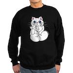 Longhair ASL Kitty Sweatshirt (dark)