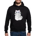 Longhair ASL Kitty Hoodie (dark)