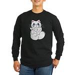 Longhair ASL Kitty Long Sleeve Dark T-Shirt