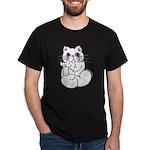 Longhair ASL Kitty Dark T-Shirt