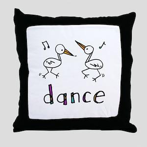 Dance Bird Throw Pillow