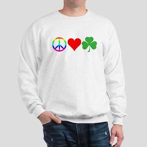 Peace Love Shamrock Irish Sweatshirt