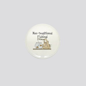 Non-Traditional Fishing Mini Button