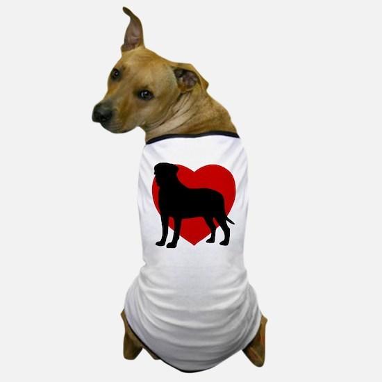 Bullmastiff Valentine's Day Dog T-Shirt