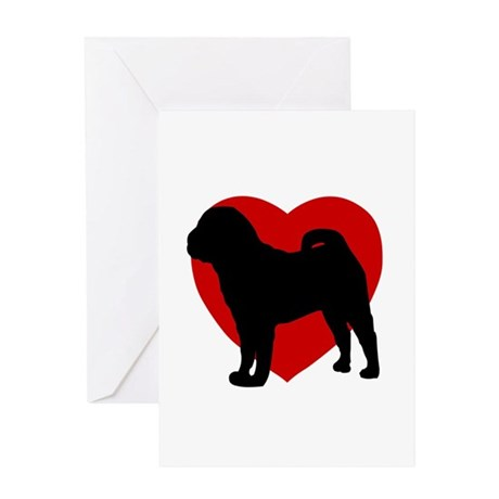 Shar Pei Valentine's Day Greeting Card