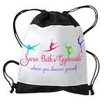 Sara Beth's Gymnasts Logo with Tagline Drawstring