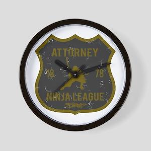 Attorney Ninja League Wall Clock