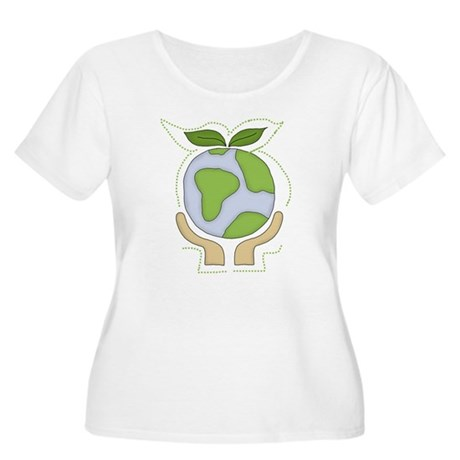 Earth in Our Hands Women's Plus Size Scoop Neck T-