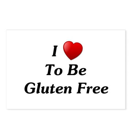 Love To Be Gluten Free Postcards (Package of 8)