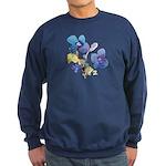 Watercolor Flowers Sweatshirt (dark)