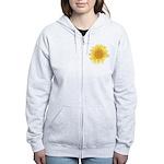 Elegant Sunflower Women's Zip Hoodie