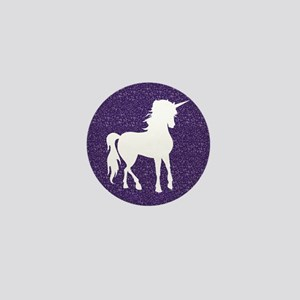 Purple Unicorn Mini Button