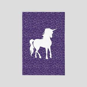 Purple Unicorn 4' x 6' Rug