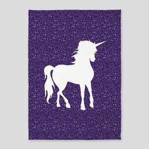 Purple Unicorn 5'x7'Area Rug