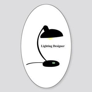 Lighting Designer 1 Oval Sticker