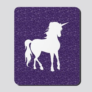 Purple Unicorn Mousepad
