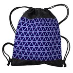 Drawstring Bag Purple Flower
