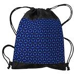 Drawstring Bag Blue Flower Pattern