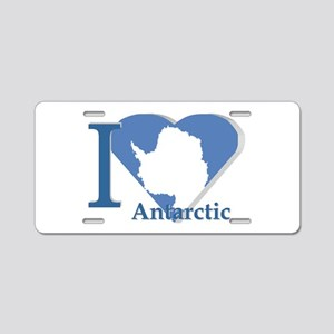 I love antarctic Aluminum License Plate