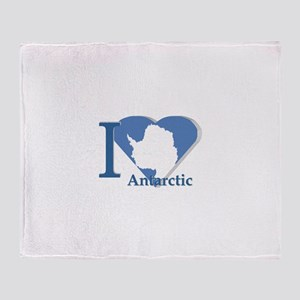 I love antarctic Throw Blanket