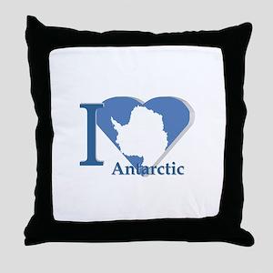 I love antarctic Throw Pillow