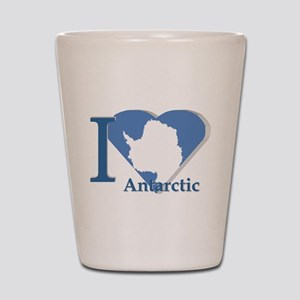 I love antarctic Shot Glass